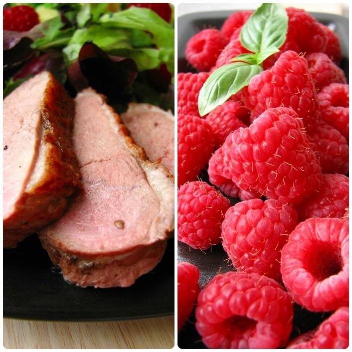 Andefilet med hindbærsalat og kartofler