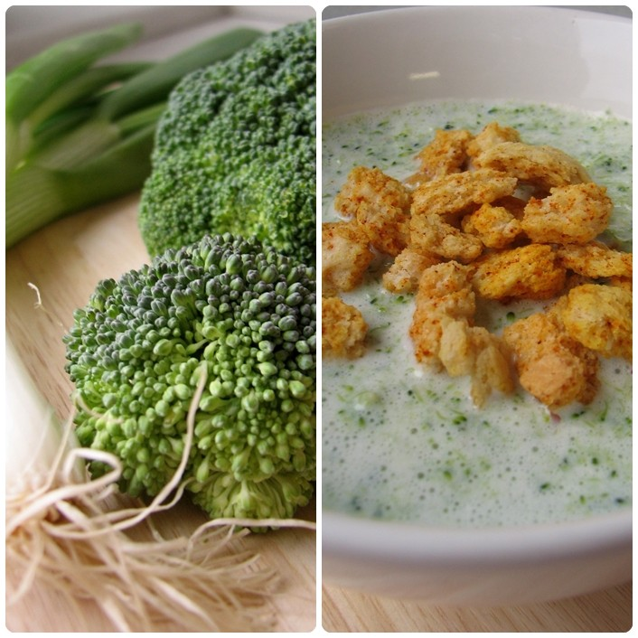 Cremet broccolisuppe