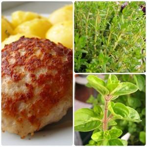 Frikadeller med kartofler i timiansmør