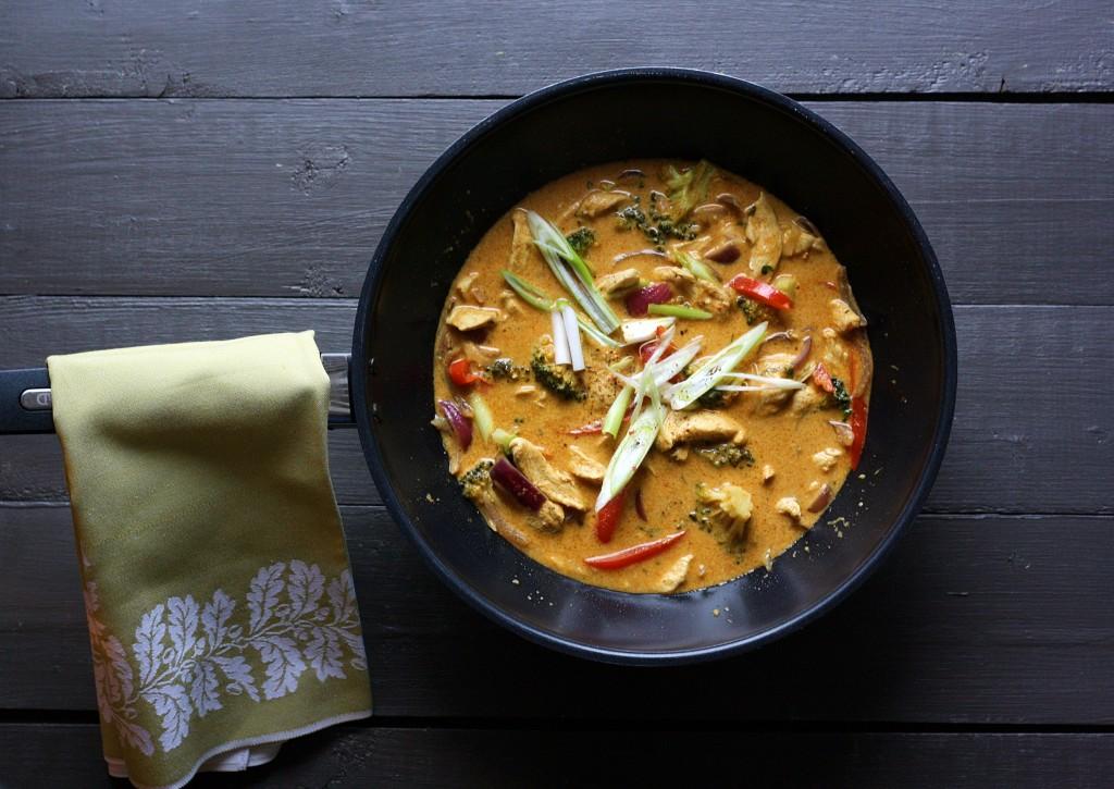 Kylling I Thai Karry Opskrift Jeg Elsker Mad
