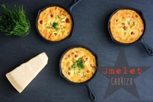 Omelet med chorizo