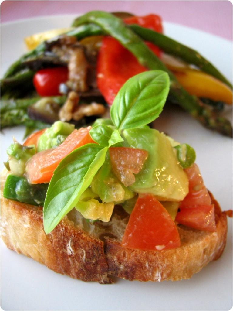 Salat af grillede grønsager