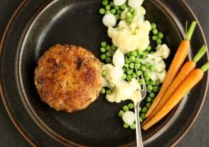 Karbonader med nye kartofler og smørsauce