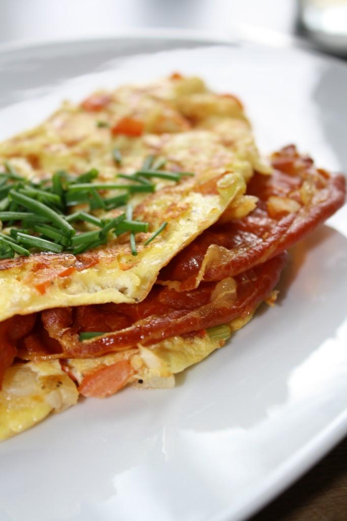 Omelet med emmentaler