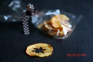 Æblechips med kanel
