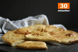 Hurtigt madbrød | Friskbagt på under 30 min.